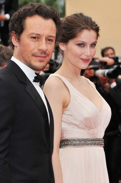 """CANNES, FRANCE - MAY 18: Stefano Accorsi (L) and Laetitia Casta attends the """"La Conquete"""" premiere during 64th Annual Cannes Film Festival at Palais des Festivals on May 18, 2011 in Cannes, France. (Photo by Pascal Le Segretain/Getty Images)"""
